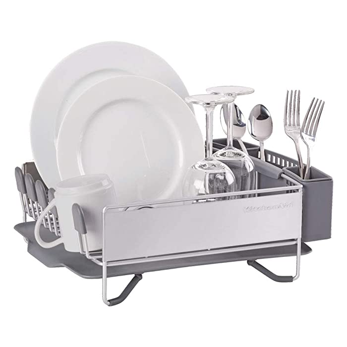 KitchenAid KNS895BXGRA Compact Dish Rack, Stainless Steel
