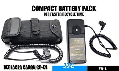JJC FB-1 External Flash Battery Pack for Canon 600EX-RT 580EX 580EX II 550EX 540EZ MR-14EX MT-24EX YONGNUO YN-560IIISpeedlite Flash Units by Cowboy Studio