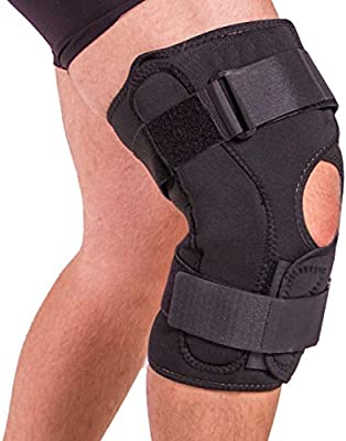 BraceAbility Obesity Knee Pain Brace | Oversized King & Queen Hinged Support Wrap for Knee Joint Pain in Overweight Men and Women (2XL)