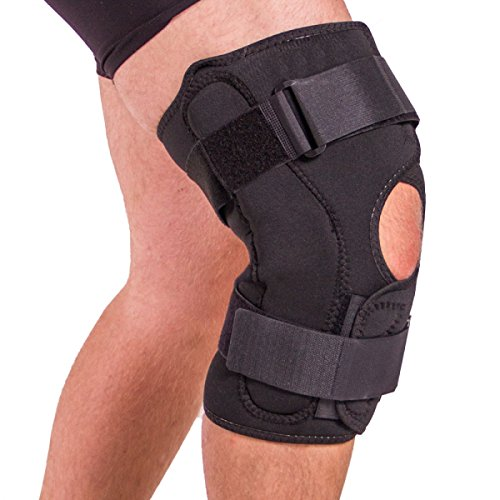BraceAbility Obesity Knee Pain Brace | Oversized King & Queen Hinged Support Wrap to Reduce Pressure on Knee Joints in Overweight Men & Women (XL)