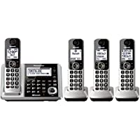 Panasonic KX-TGF374S DECT 4-Handset Landline Telephone (Certified Refurbished)