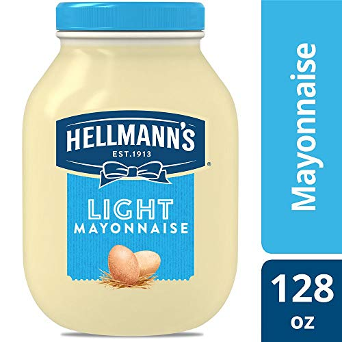 Hellmann's Light Mayonnaise Jar Made with 100% Cage Free Eggs, Gluten Free, 1 gallon, Pack of 4