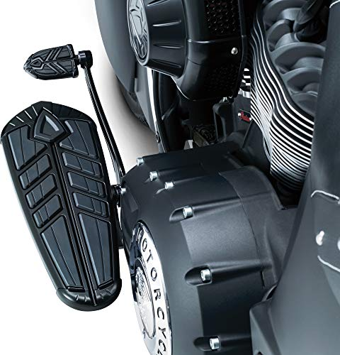 Kuryakyn 5651 Motorcycle Foot Control Component: Spear Driver Floorboard Inserts for 2014-19 Indian Motorcycles, Satin Black, 1 Pair