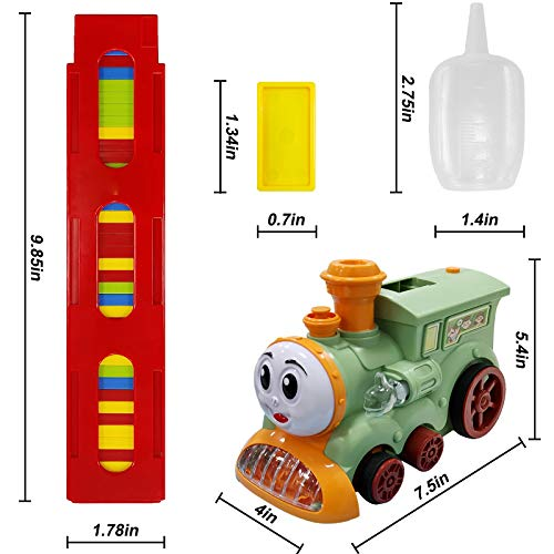 Automatic Domino Train Set - Domino Blocks Set, Dominoes Train Toy for Kids Boys and Girls Age 3 4 5 6 7 8
