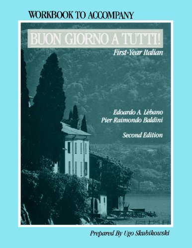 Buon Giorno A Tutti!, Workbook: First-Year Italian