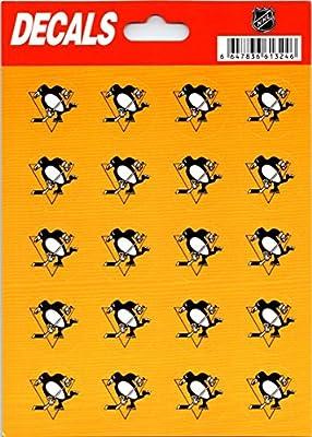 "Pittsburgh Penguins 20 Logo Decal Sticker 5""x7"" Sheet - 20 Logos - 1"" Each"