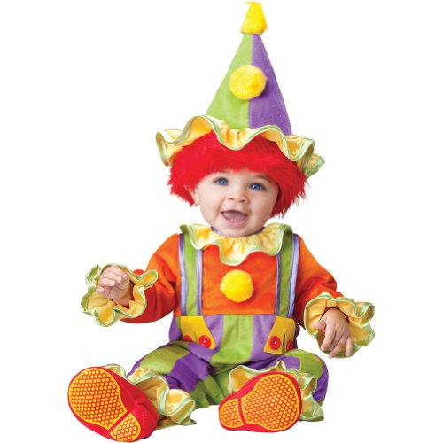 Cuddly Clown Costumes (Cuddly Clown Baby Infant Costume - Infant Large)