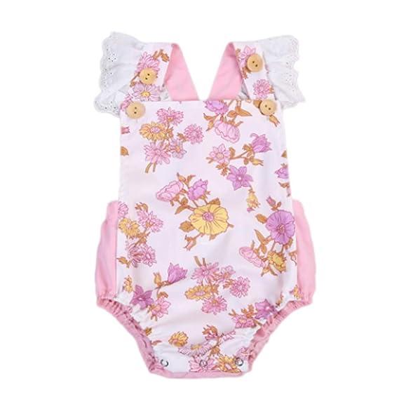 Luckycat Ropa Bebé Niñas Bebé Mono, Recién Nacido Bebé Mono Niña ...