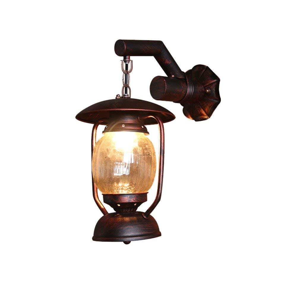 best-seller Lampada da parete, American Village Lampada a cherosane Lanterna Lanterna Lanterna antica Creato da Cafe aisle balcone soffitta Iron Wall E27 Facile da pulire (colore   Singolo)  tempo libero