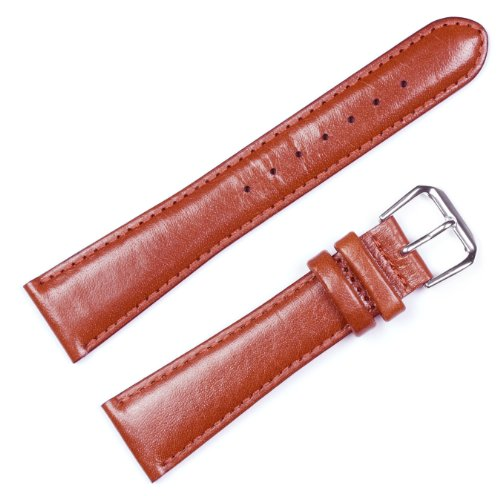 Band Watch Mm 10 (deBeer Smooth Genuine Leather Mens Watch Band/Strap - Havana 10mm)