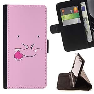 - Funny Pink Face/ Personalizada del estilo del dise???¡¯???¡Ào de la PU Caso de encargo del cuero del tir???¡¯????n del s - Cao - For Apple Iphone 5C
