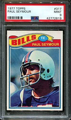 Paul Seymour Bills - 1977 TOPPS #317 PAUL SEYMOUR BILLS PSA 9 F2696221-819