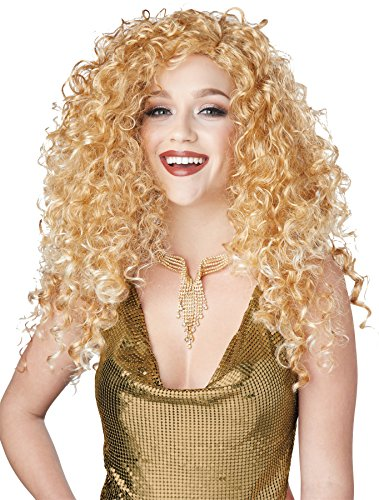 UHC Women's Sexy Disco Diva Do Dirty Blonde Wig Halloween Costume (Cheap Disco Diva Costume)