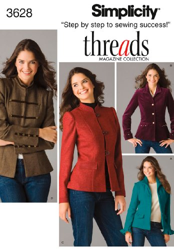 Simplicity Sewing Pattern 3628 Miss/Miss Petite Jackets, U5 (16-18-20-22-24)