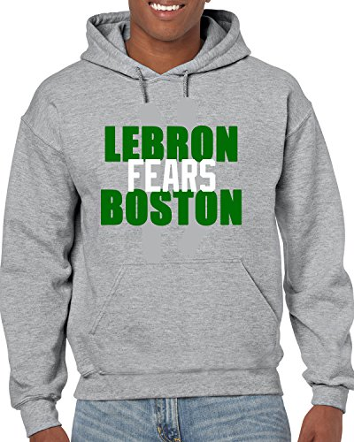 Peg Leg Shirts GRAY Boston Lebron Fears Boston Hooded Sweatshirt YOUTH XL - Paul Pierce Youth Jersey