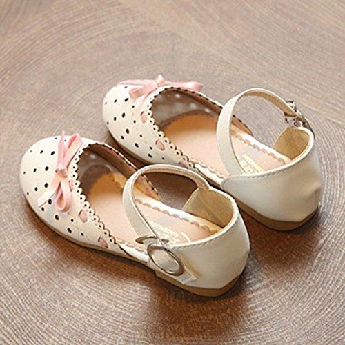 43501b14319f7 EU20-25 Bebe Fille ETE Sandales Noeud Cuir Chaussures de Princess Ceremonie  Fete