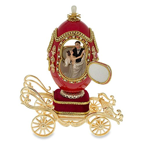 oach Faberge Inspired Egg Music Box (The Wedding Coach)