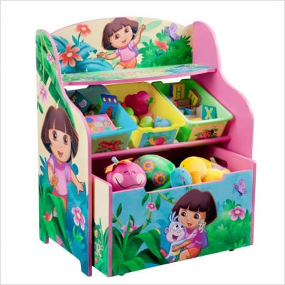 Delta Dora - Nickelodeon's Dora the Explorer 10th Anniversary 3 Tier Organizer and Toy Box