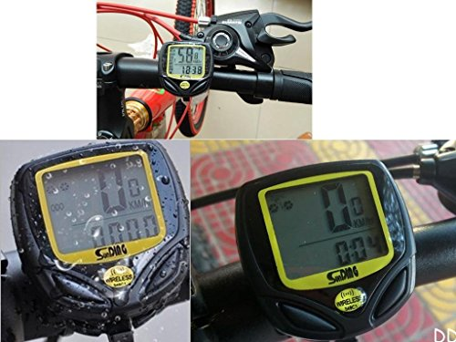 Bike Bicycle Cycling Wireless LCD Computer Odometer Speedometer Waterproof by Polarbear's Shop