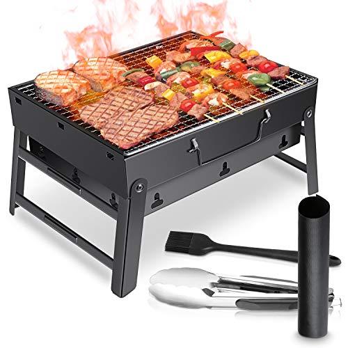 WOSTOO Holzkohlegrill,BBQ Grill Charcoal Grill Picknickgrill Tragbar Klappgrill Grill Portable Campinggrill für…