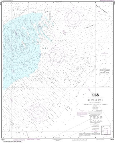Noaa Chart 13204 Georges Bank Eastern Part  42 77  X 34 41  Paper Chart By Maphouse