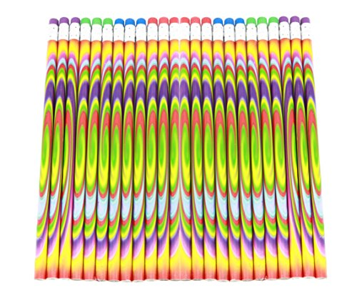Colorful Tie Dye Pencils For School Supplies And Classroom Rewards - 24 Pencils Photo #3