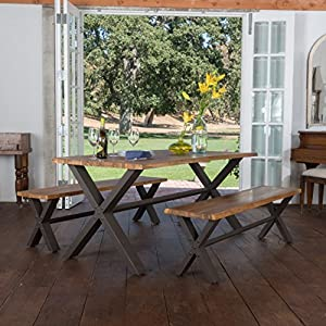 Jasper | Acacia Wood Dining Set | with Teak Finish