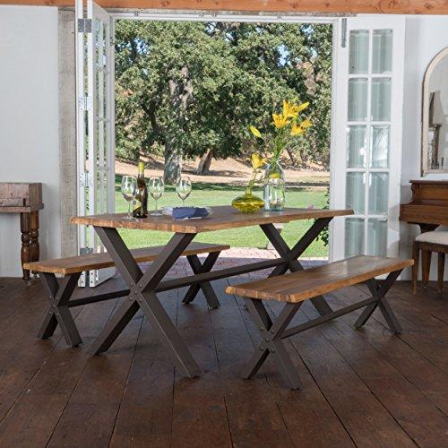 (Jasper | Acacia Wood Dining Set | with Teak Finish)