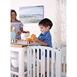 Guidecraft Contemporary Kitchen Helper - Gray: Folding, Adjustable Height Counter Wooden Step Stool For Toddlers, Children Safety Tower, Kids Learning Furniture