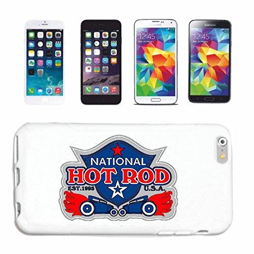 """cas de téléphone iPhone 7 """"NATIONAL HOT ROD 1983 USA AMÉRIQUE ÉTATS-UNIS US CAR HOT-ROD VINTAGE NEW YORK LOS ANGELES NASCAR"""" Hard Case Cover Téléphone Covers Smart Cover pour Apple iPhone en blanc"""