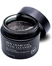 MENSTORY Charcoal Cleanser (1.76 oz) - Cleanse Pores, Dirt and Oil - Smooth and Refresh Face - Oil Control, Deep Cleansing, Purifying Facial Wash for Men