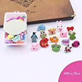 30Pcs Adorable Animal Thumbtacks Colorful Decorative Pushpins for Home, Office Cork Board, Plasterboard, Photo Wall, with Stroage Box (Assorted Color)