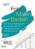 Foto-Malen-Basteln A4 weiß Notice 2017: Kalender zum Selbstgestalten