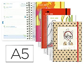 Agenda escolar liderpapel 16-17 fantasia din-a5 biling e 70 ...