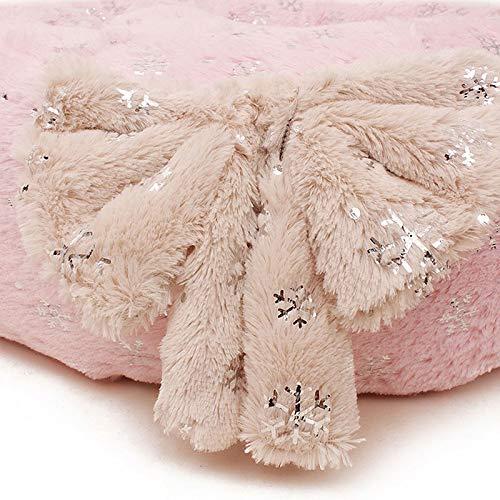 rosa day Ammortizzatore rossoondo Dell'animale Dell'animale Dell'animale Domestico del Cane di Animale Domestico della Peluche del Fiocco di Neve Dell'animale Domestico del Letto rossoondo 60  60  17CM (colore   Un ) 5fef01