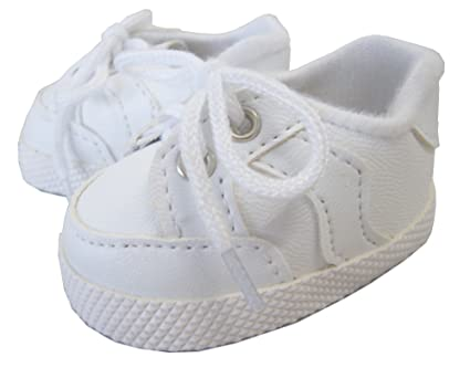 33ef549187551f Image Unavailable. Image not available for. Color  White Tennis Gym Shoes  Sneakers for 18 quot  American Girl by Doll Clothes Sew Beautiful