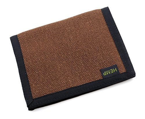 Hempmania Hemp Bi-fold Wallet – Chocolate – One Size