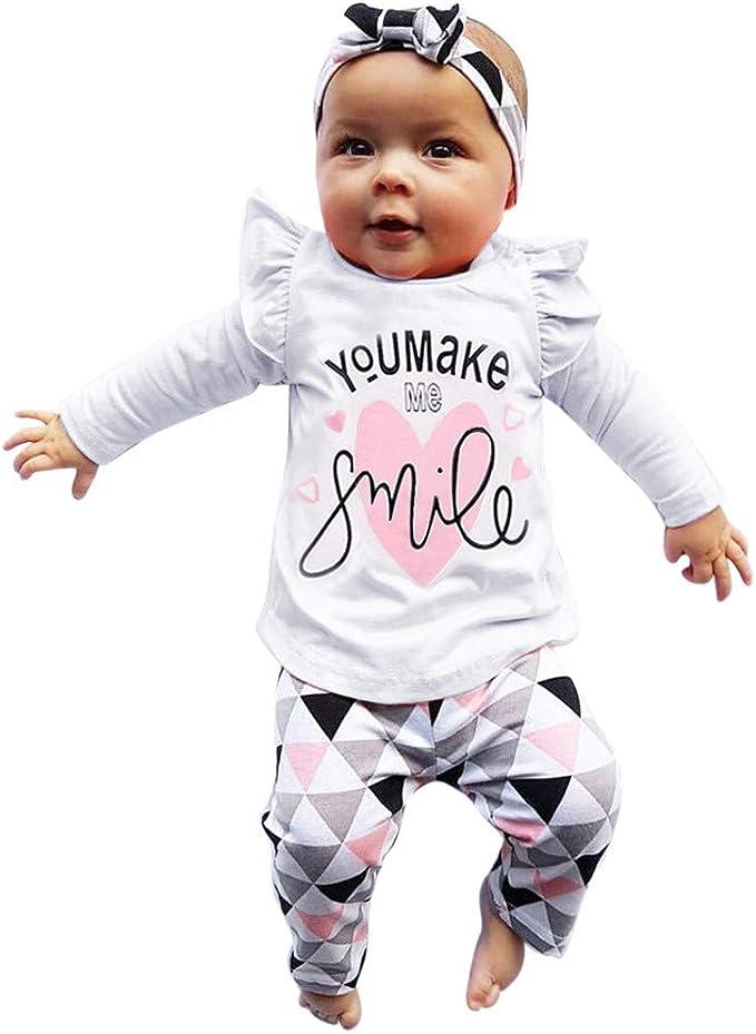 baohooya Tuta Neonato Bambino 3-24 Mesi,Completo Ragazza E Ragazzi 2 Pezzi Tute in Cotone Maglietta Pantaloni Set Cartoni Animati Orso Manica Lunga Inverno Indumenti da Notte