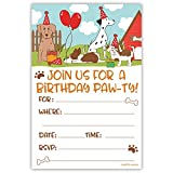 Puppy Dog Birthday Party Invitations (20 Count) With Envelopes