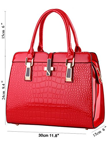 Rouge Grand À Ladies Bandoulière Pu Menschwear Womens Sac Leather Purse WpY4zY8q
