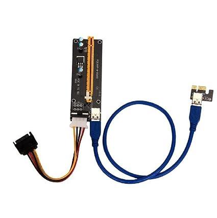 Sannysis Adaptador PCI Express Tarjeta vertical accionado ...