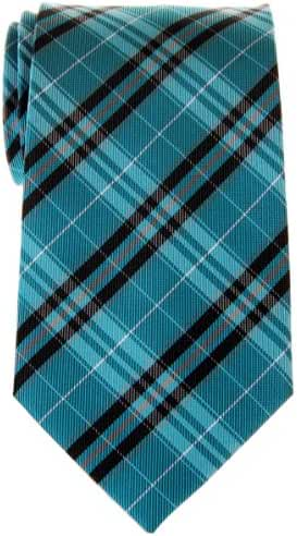 Retreez Stylish Plaid Checkered Woven Microfiber Men's Tie - Various Colors