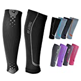 """Graduated Compression Sleeves by Thirty48 -""""The Sock Geeks"""", Cp Series, Calf/Shin Splint Guard Sock; 1 Pair; Maximize Faster Recovery by Increasing Oxygen to Muscles; Great for Running, Cycling, Walking, Basketball, Football Soccer, Cross Fit, Travel; Money Back Guarantee"""