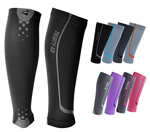 Graduated-Compression-Sleeves-by-Thirty48-Cp-Series-Prevents-Calf-and-Shin-Splints-Relieves-Lower-Leg-Pain-and-Cramps-Maximize-Faster-Recovery-by-Increasing-Oxygen-to-Muscles-Great-for-Running-Cycling