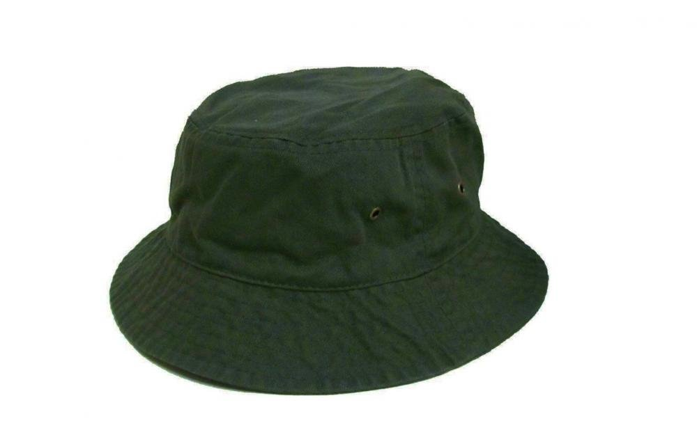 Easy-W Dark Green 100% Cotton Hat Cap Bucket Boonie Unisex