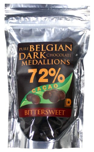 Real Pure Belgian Dark Chocolate Medallions 72% Pure Cacao. 4 Oz. Review