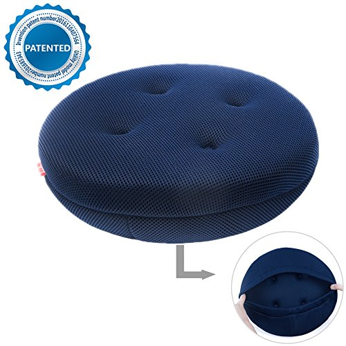 Round Bar Stool Cover Seat Cushion Navy Blue