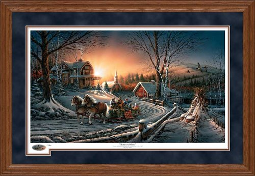 Pleasures of Winter Framed Limited Edition Print by Terry Redlin