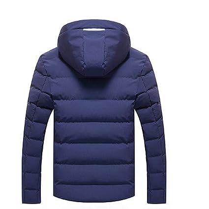 ♚ Abrigo de Chaqueta Corta para Hombre, para Hombre de Invierno de Manga Larga con Capucha Caliente con Capucha Zip Slim Chaqueta Outwear Wind Coat ...