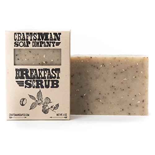 Breakfast Scrub. Coffee & Oatmeal Bar Soap. 100% All-Natural Handmade.